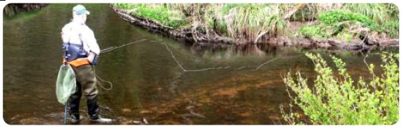 Fishing on River Goyt